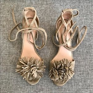 Madewell Lainy ankle strap tassel sandals